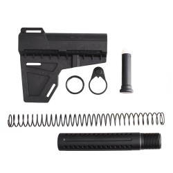 AR-15 Shockwave Blade with Custom Pistol Buffer Tube Kit (SW, T-P4, N, P, S, B30)