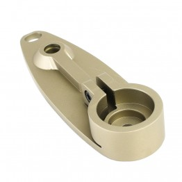 AR-15 Rifle Length Aluminum A1/A2 Stock Butt Plate  with Locking Screw -TAN