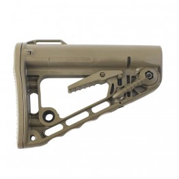 Rogers Super-Stoc Deluxe Carbine Buttstock FLAT DARK EARTH w/QD Base (Made in USA)