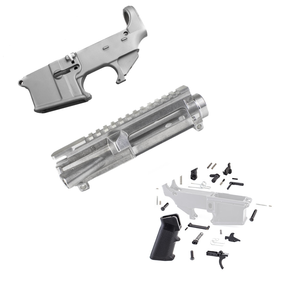 AR-15 80% Lower Receiver Raw Kit - Made in U S A  with Upper
