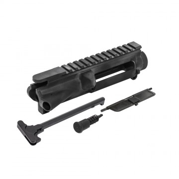 AR-15 Flat-Top Upper Receiver Kit - Made in U.S.A. - Incl. Ejection Port Kit, Forward Assist, & Charging Handle-Unassembly (223UP, ARFA, DC223, CH223)