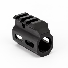 "Gas Block .750"" with Top Picatinny Rail - Black"