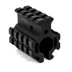 .750 Quad Rail Gas Block