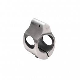 .750 Low Profile Steel Gas Block with CLAMP-ON - Stainless