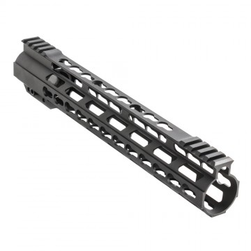 "15"" Super Slim Light AR-15 Keymod Free Float Handguard w/Steel Barrel Nut"
