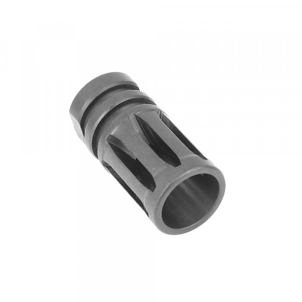 "AR 9MM Muzzle Brake for 1/2""x36 Pitch - 5 Ports"
