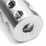 "223 Compact Stainless Muzzle Brake for 1/2""x28 Pitch"