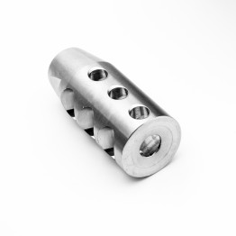 "308 Compact Stainless Muzzle Brake for 5/8""x24 Pitch w/ Stainess Washer"