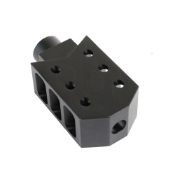 AR-15 Barrett Style Muzzle Brake with Jam Nut