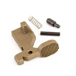 AR-15 Bolt Catch Assembly Kit with Plunger, Spring & Roll Pin -Tan
