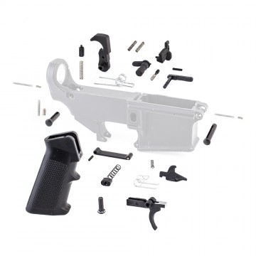 Lower Parts Kit w/ Standard Grip & Trigger Guard (MC, SSL-S, BC, DS, 2*(LK-12), LK-34, 2*(LK-5), T-PIN, P-PIN, A2GRIP, PSCREW, TG-O,TS, HS, DISC, DISC-S, TRIG, HAM)