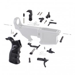 Lower Parts Kit w/ Upgraded Grip & Extended Trigger Guard (MC, SSL-S, BC, DS, 2*(LK-12), LK-34, LK-4, 2*(LK-5), T-PIN, P-PIN, HG003, PSCREW, TG,TS, HS, DISC, DISC-S, TRIG, HAM)