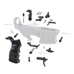 Lower Parts Kit w/ Upgraded Grip, Extended Trigger Guard, Ambi Dual Selector & Extended Pin
