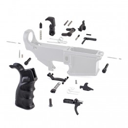 Lower Parts Kit w/ Upgraded Grip, Extended Trigger Guard, Ambi Dual Selector & Extended Pin (MC, SSL, BC, DS, 2*(LK-12), LK-34, LK-4, 2*(LK-5), LT-PIN, LP-PIN, HG003, PSCREW, TG,TS, HS, DISC, DISC-S, TRIG, HAM)