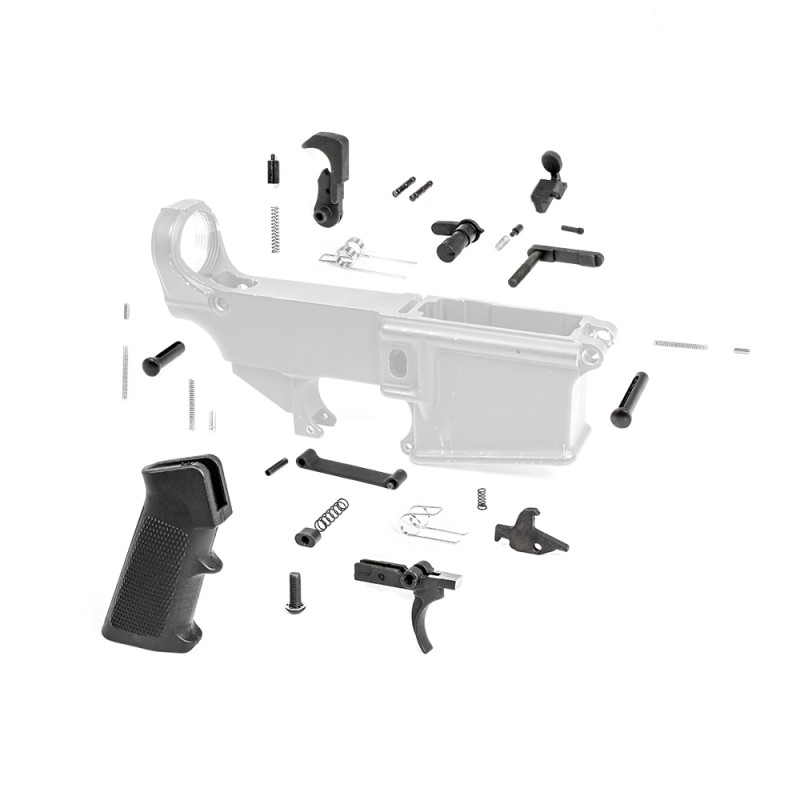308 Lower Parts Kit w/ Standard Grip & Trigger Guard