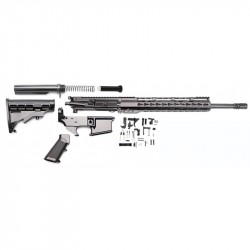 "AR15 16"" RIFLE BUILD KIT W/ 12"" HYBRID HANDGUARD 80% LOWER LPK & STOCK KIT (NO BCG)"
