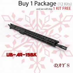 "Day 8: AR-15 Complete Upper Build 5.56 NATO 16"" Barrel with USA Made 15"" Black Handguard (Package of 12)"