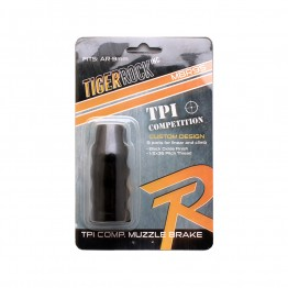 """AR 9mm Custom TPI Competition Muzzle Brake 1/2 x 36"""" Pitch Thread Packaged"""
