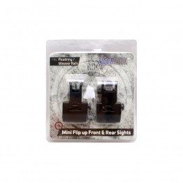 Mini Flip up Front/Rear Sight Packaged