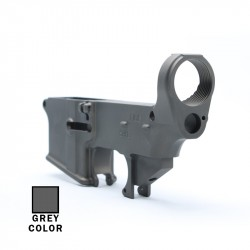 80% AR-15 Lower Receiver Raw (Made in USA) -GREY