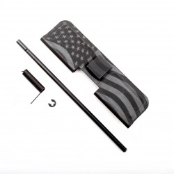 AR-15 Ejection Port Dust Cover Complete Assembly with Flag engraving