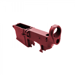 80% AR-15 Lower Receiver Red Anodized (Made in USA)