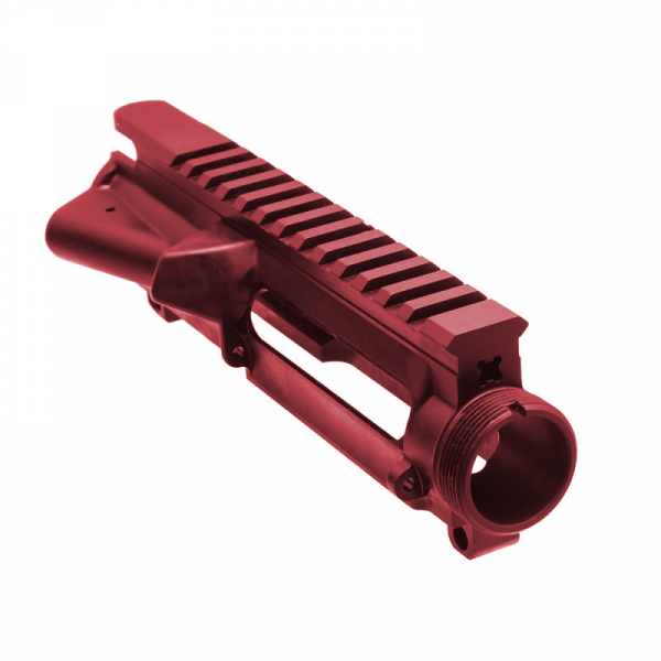AR-15 Flattop Stripped Upper Receiver (RED) - Made in U.S.A.