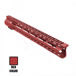 "AR15 15"" Super Slim Light Keymod Free Float Handguard - Red (MADE IN USA)"