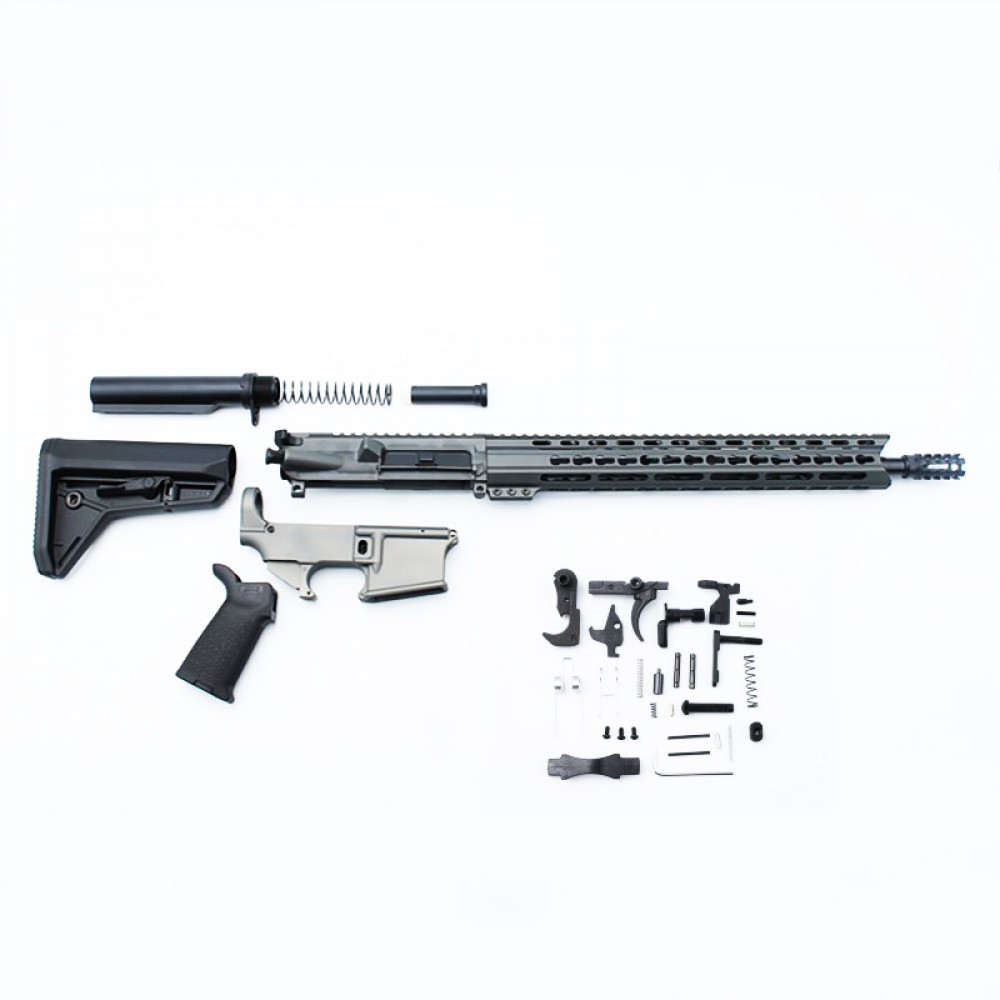 AR-15 Rifle Build Kit with Custom Made in USA Complete Upper