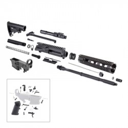 AR-15 Rifle Kit with Lower Part Kit, and 80% Lower