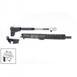 "AR-15 10.5"" Pistol Build Kit with Custom USA Made Complete Upper Build with Magpul Grip, USA Made 10"" M-Lok Handguard, BCG and Lower Parts Kit"