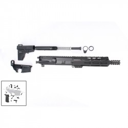 "AR-15 7.5"" Pistol Build Kit with Custom USA Made Complete Upper Build with Magpul Grip, USA Made 7"" M-Lok Handguard, BCG and Lower Parts Kit"