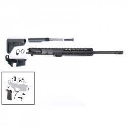 "AR-15 Rifle Build Kit with Complete Upper Build with Magpul Kits, USA Made 10"" M-Lok Handguard, Upper, 80% Lower and Lower Parts Kit"
