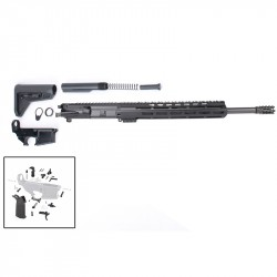 "AR-15 Rifle Build Kit with Complete Upper Build with Magpul Kits, USA Made 12"" M-Lok Handguard, Upper, 80% Lower and Lower Parts Kit"