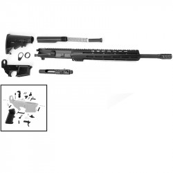 "AR .300 BLACKOUT 16"" RIFLE BUILD KIT W/ 12"" M-LOK USA MADE HANDGUARD (ASSEMBLED UPPER)"