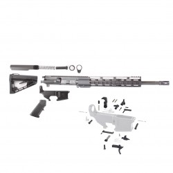 "AR15 16"" RIFLE BUILD KIT W/ 12"" KEYMOD HANDGUARD 80% LOWER & ROGER SUPER STOCK"