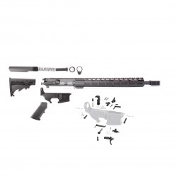 "AR .300 BLACKOUT 16"" RIFLE BUILD KIT W/ 15 M-LOK USA MADE HANDGUARD & 80% LOWER RECEIVER (ASSEMBLED UPPER)"
