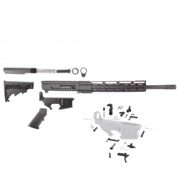 "AR 7.62X39 RIFLE BUILD KIT W/ 12"" HANDGUARD SIDE CHARGING UPPER RECEIVER 80% LOWER RECEIVER AND LPK (ASSEMBLED UPPER)"