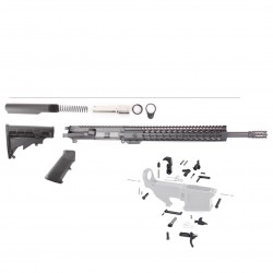 "AR 9MM 16"" RIFLE BUILD KIT W/ 12"" SUPER SLIM KEYMOD HANDGUARD (ASSEMBLED UPPER)"