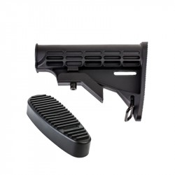AR-15 T6 Collapsible Standard Version Stock Body-Mil Spec With Buttpad Combo