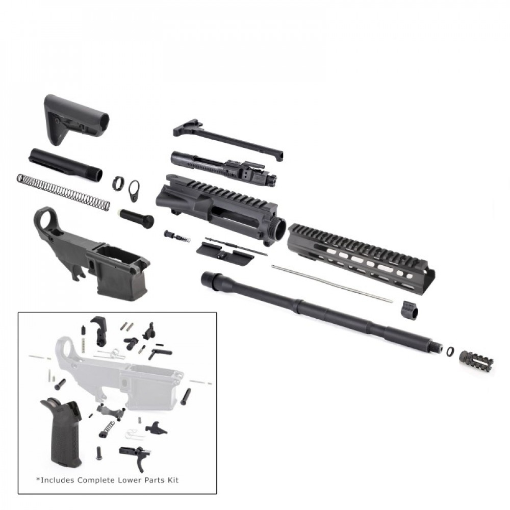 AR-15 Rifle Kit with Complete Upper Build with Magpul Kits, USA Made
