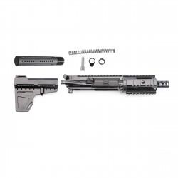 "AR 9MM Pistol Build Kit Shavewave Stock Kit & 4"" Quad Rail (223UP, ARFA, DC223, CH223, FAR04, MBR95#, BR9-4, SW, T-P4, N, P, S, B30)"