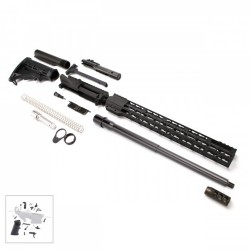 "AR 9MM Rifle Kit with 16"" Barrel and 16"" Slim Keymod Handguard with LPK"