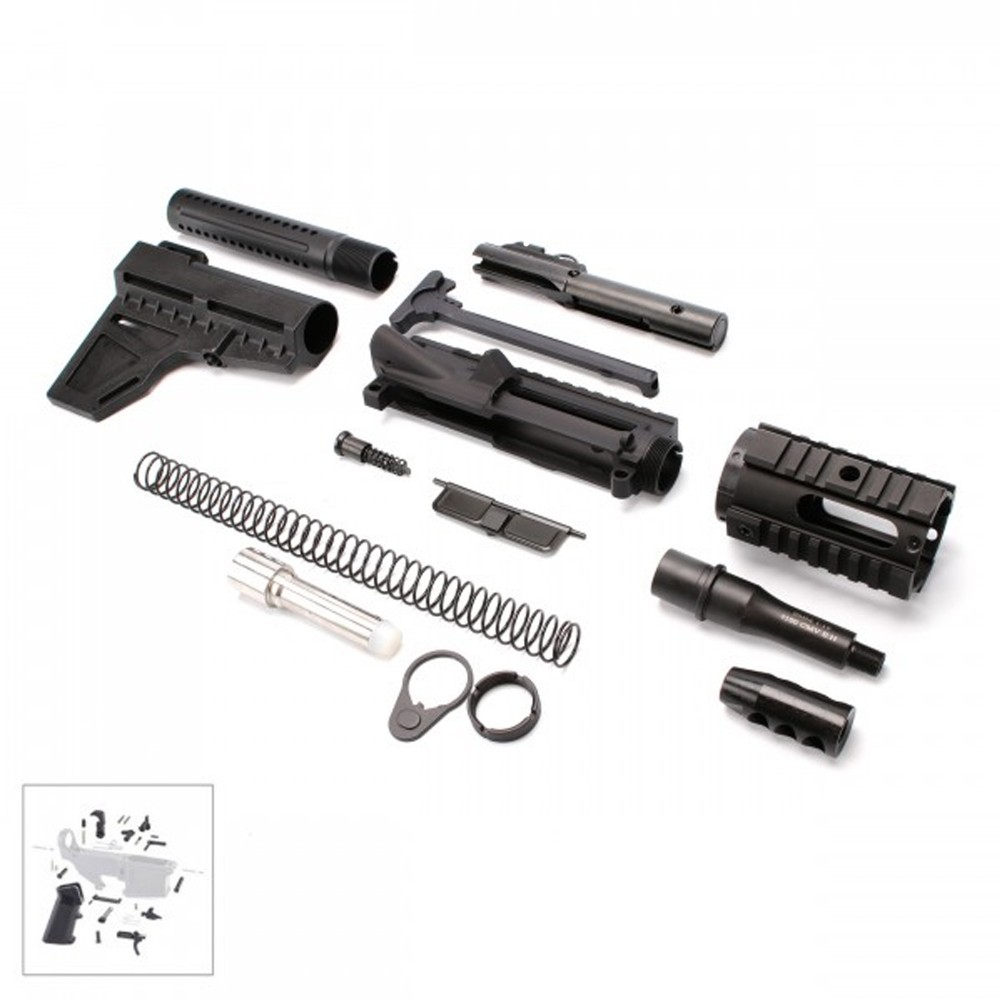 AR,9MM,Pistol,Kit,with,4,Barrel,and,4,Quad,Rail,with,LPK