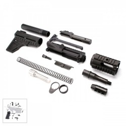 "AR 9MM Pistol Kit with 4"" Barrel and 4"" Quad Rail with LPK"