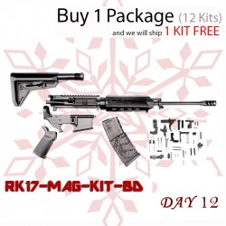 "Day 12: AR-15 Magpul MLOK Rifle Kit - 16"" M4 Carbine (Upper Assembly and Lower Parts Kit W/ Magpul Grip ) - Free Magazine (Package of 12)"