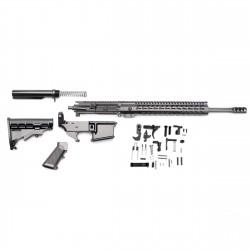 """AR 7.62X39 Rifle Build Kit with LPK and 80% Black Lower & 12"""" Slim Keymod Quad Rail (223UP, ARFA, DC223, CH223, FSM12, GB01-B, GTC, MBR38, TL308, BR-AK, ST003M, ST007M, LPK-17, 223LOWER)"""
